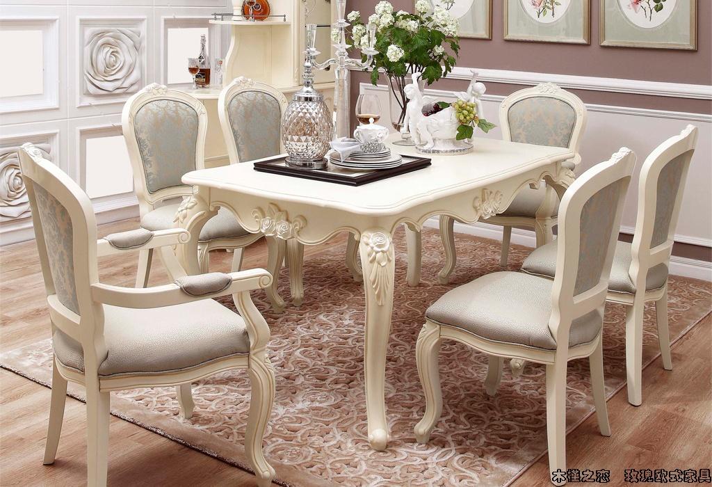 餐厅木面餐桌 实木餐椅